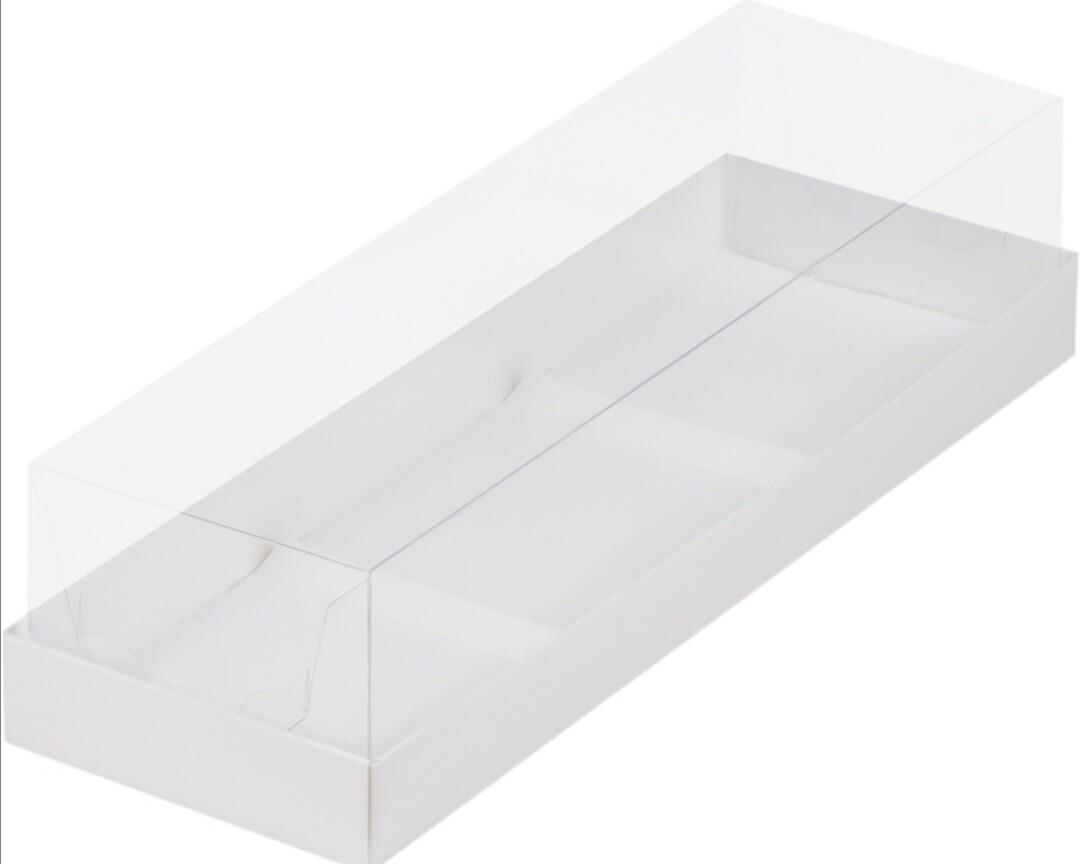 Коробка под муссовые пирожные на 3 шт белая
