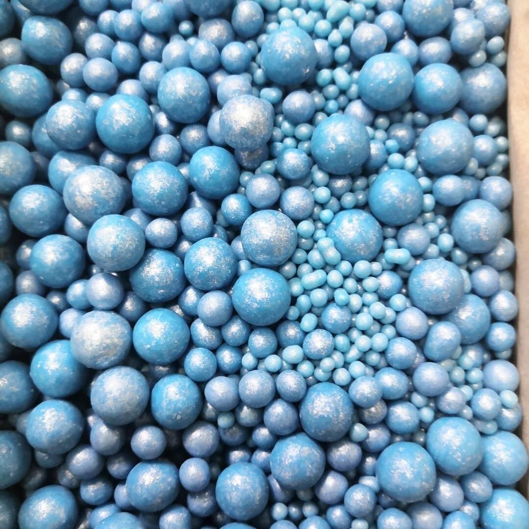 Драже рисовое в глазури микс голубой 100 гр