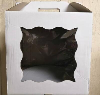Коробка для торта гофрокартон 30*30*30 с ручкой