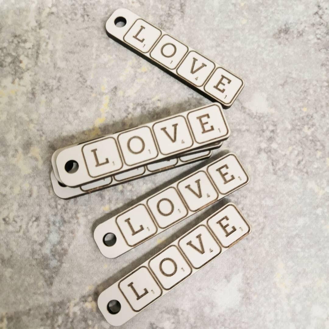 Бирка для упаковки LOVE сатин 1 шт