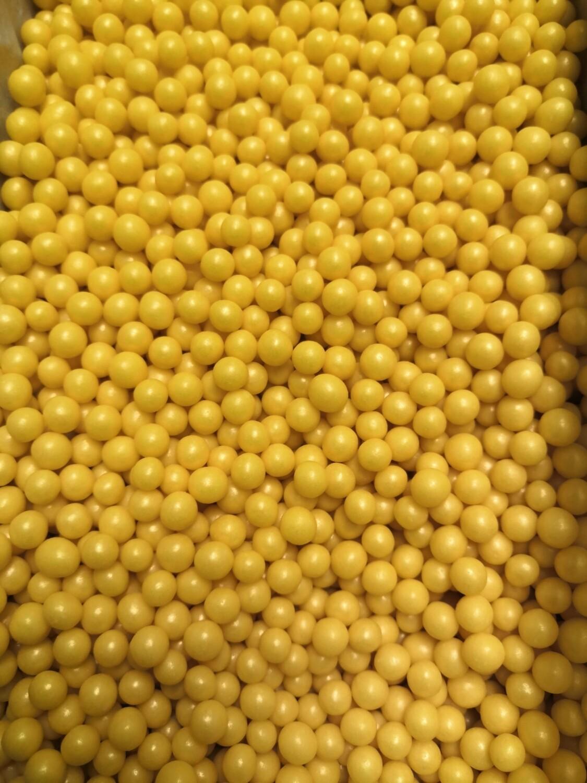 Драже рисовое в глазури золото 6-8 мм 100 гр