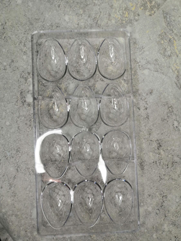 Форма поликарбонат Яйцо 12 ячеек 3,6*5,7*1,5 см
