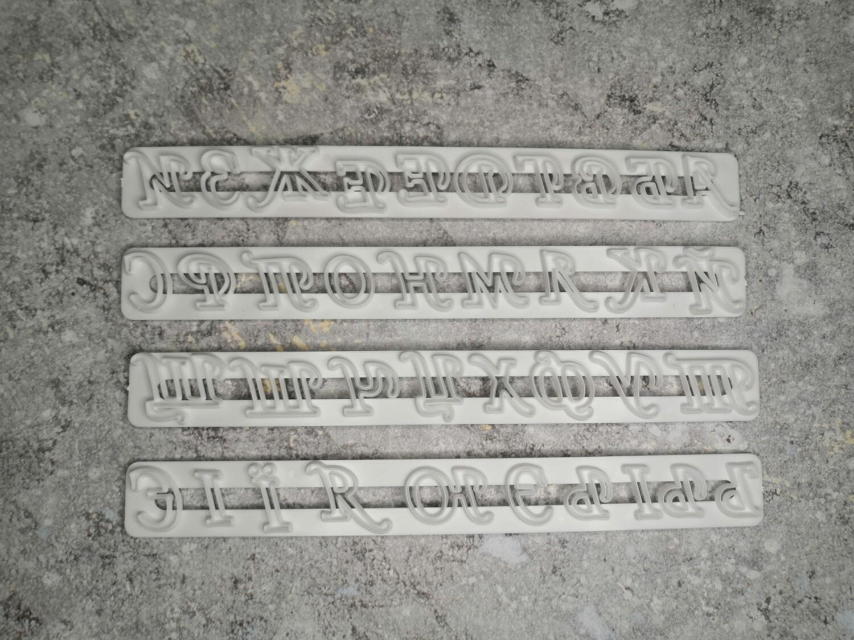 Набор печатей для теста и мастики Алфавит