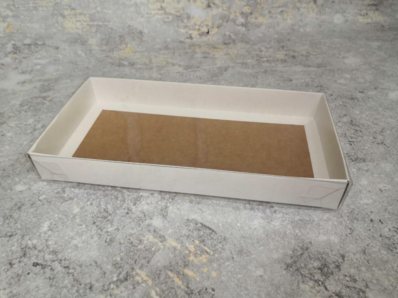 Коробка для пряников с прозрачной крышкой 20*10*2.5 см