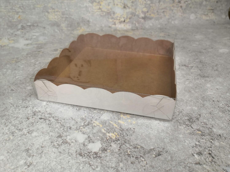 Коробка для пряников с прозрачной крышкой 15.5*15.5*3.5 см
