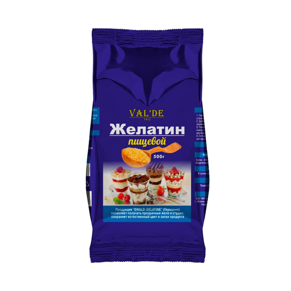Valde желатин гранулированный 500 гр