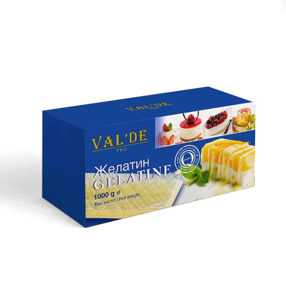Желатин VALDE листовой 140 блюм 1 кг