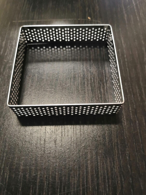 Квадрат для тарта перфорированный 7,5*7,5 см