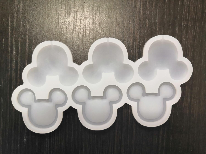 Силиконовая форма для леденцов Микки-маус