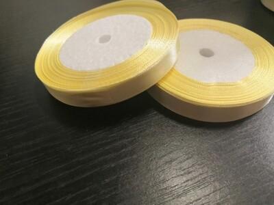 Лента атласная h 12 мм светло желтый