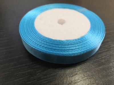 Лента атласная h 12 мм голубой