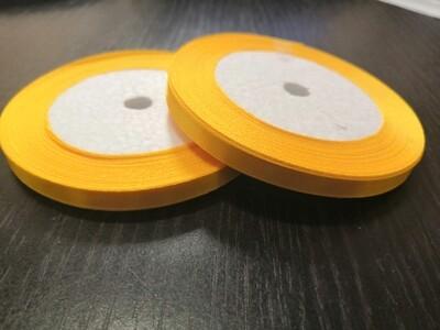 Лента атласная h 0,6 см желтая