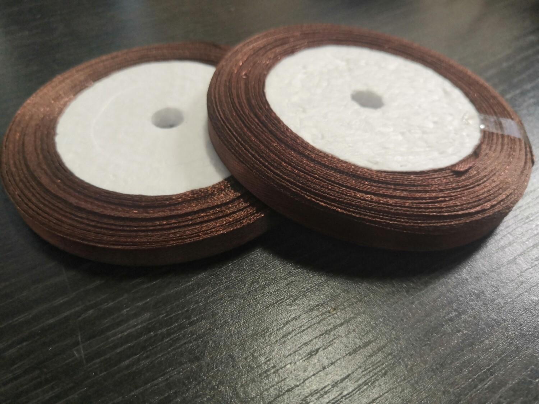 Лента атласная h 0,6 см шоколадный