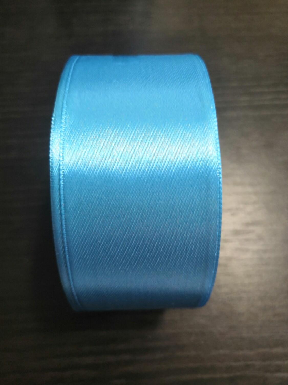 Лента атласная h 4 см голубой