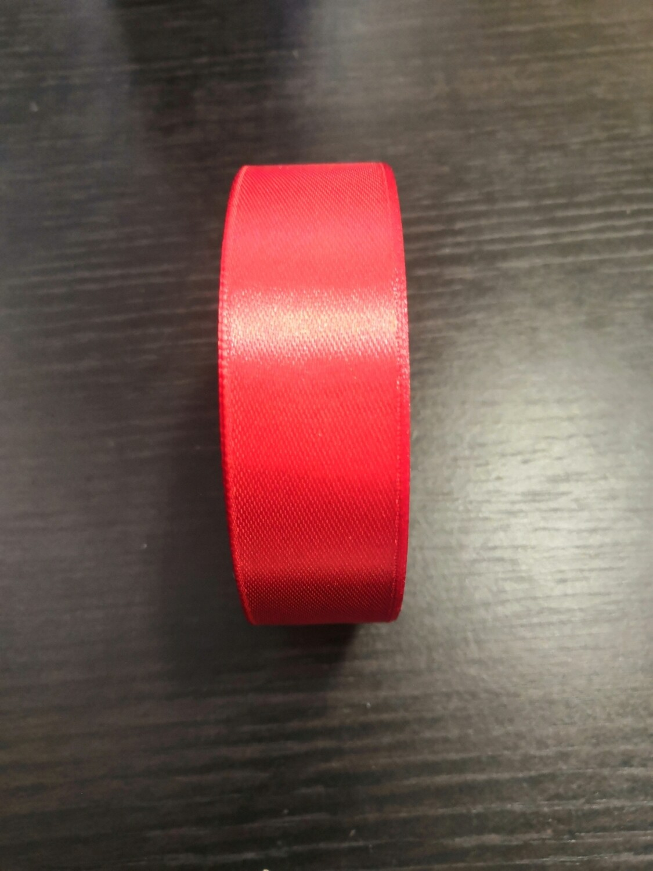 Лента атласная h 2.5 см красный