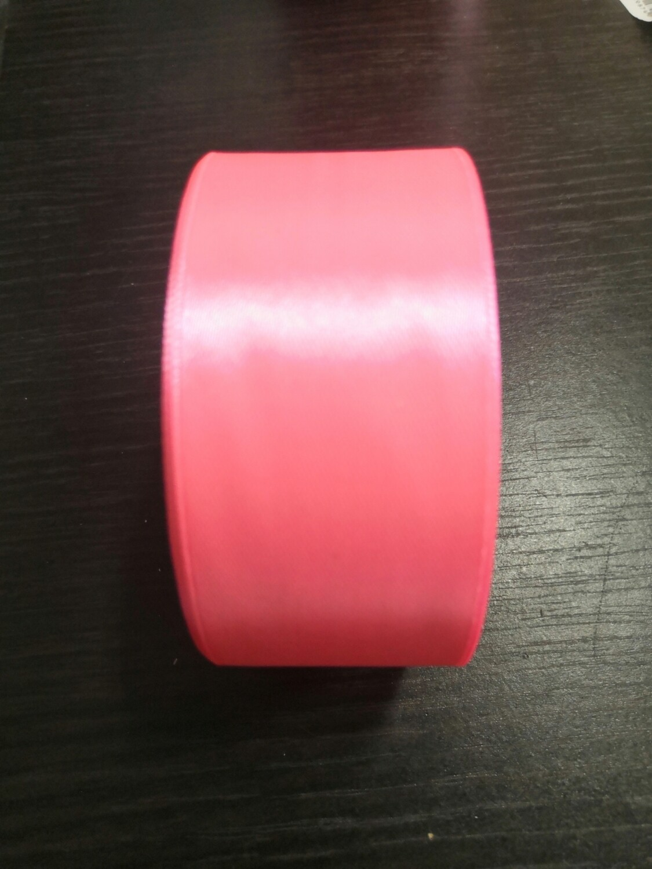 Лента атласная h 4 см розовая