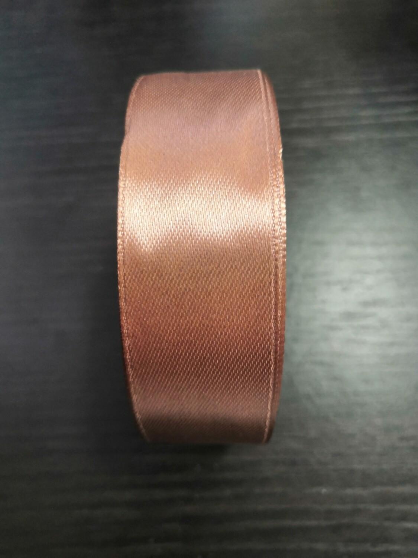 Лента атласная h 2,5 см светло коричневый