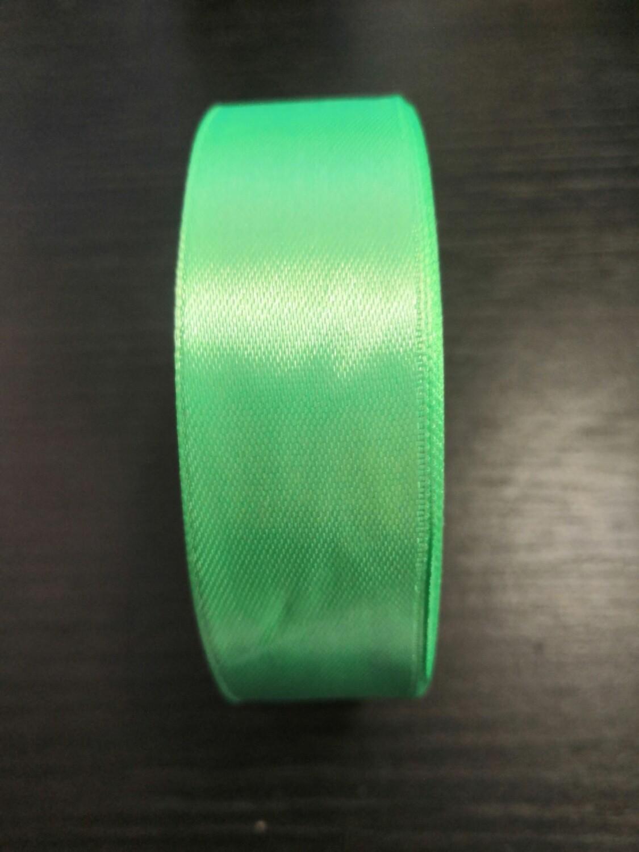 Лента атласная h 25 мм зеленый