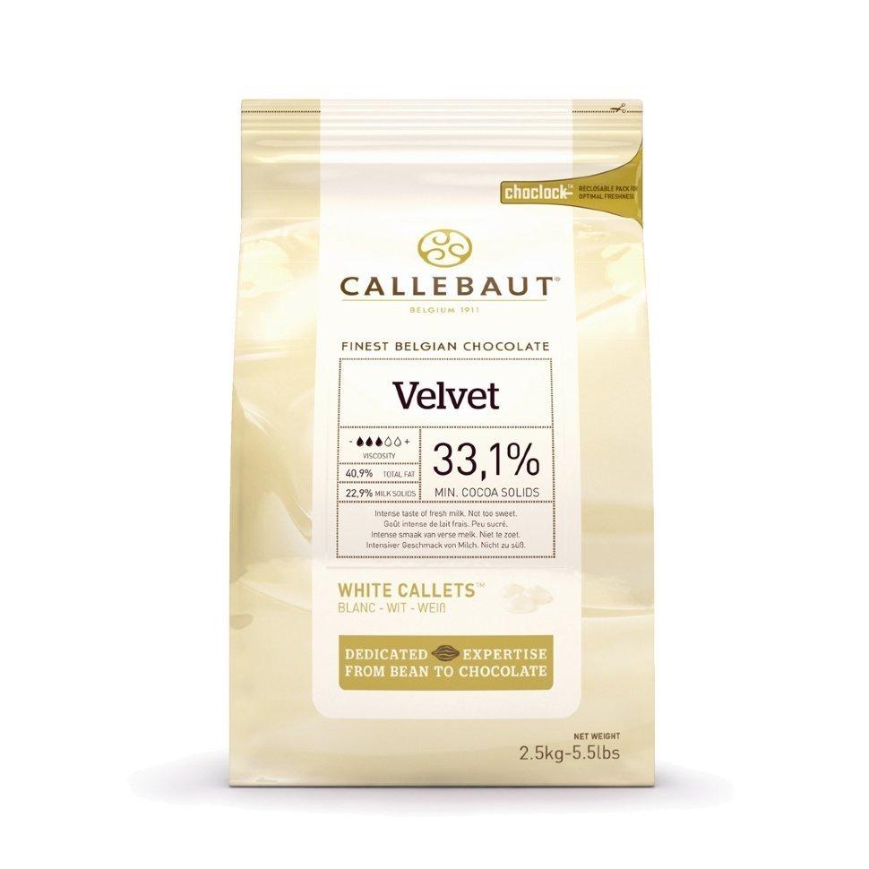 Шоколад Barry Callebaut белый Velvet, 32 % какао, в галетах 2.5 кг