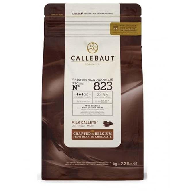 Шоколад Barry Callebaut молочный 33,6%, 2,5 кг