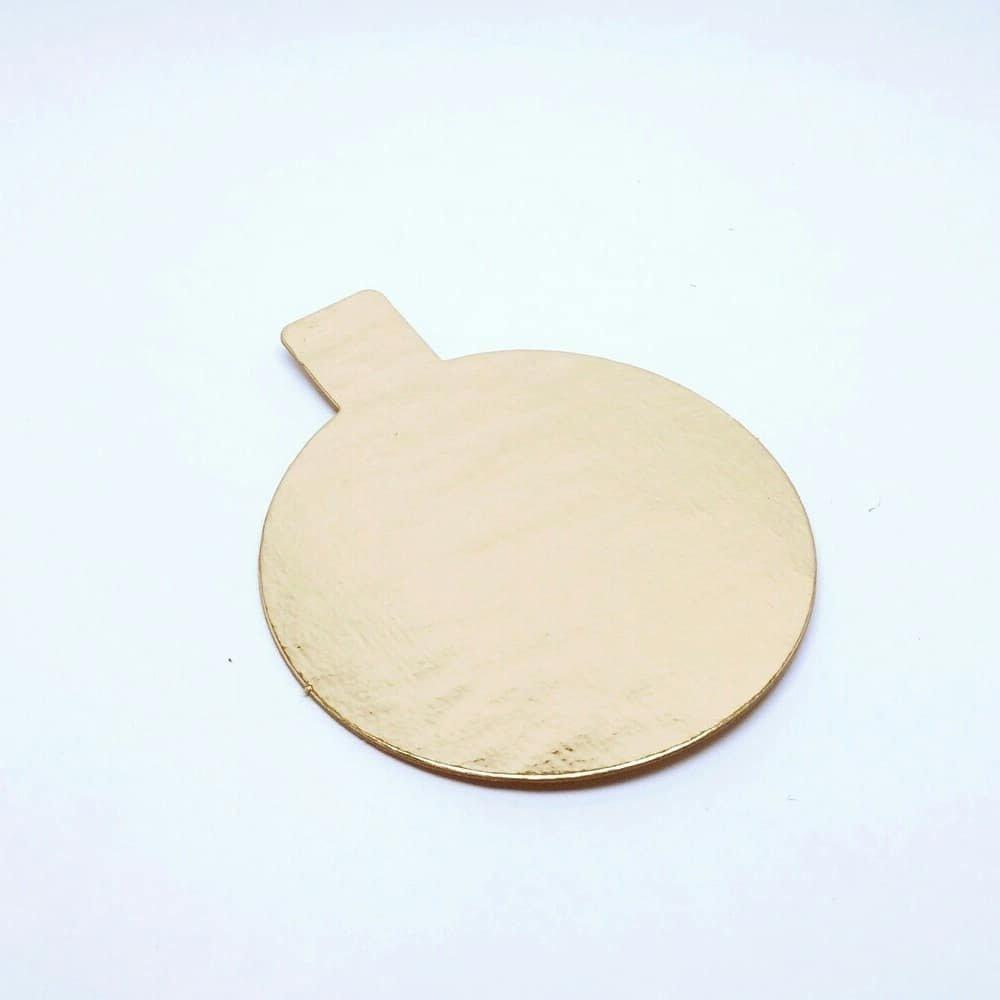Подложка с держателем золото 0.8 мм Круг d 80 мм