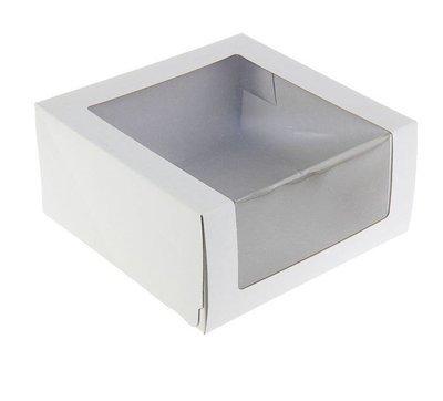 Коробка для торта с окном 22.5*22.5*11 см
