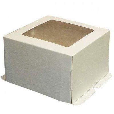 Коробка для торта гофрокартон 30*30*19 с окном