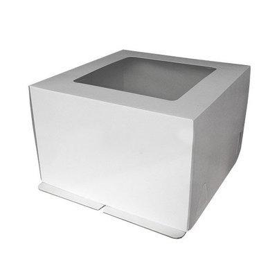 Коробка для торта гофрокартон 30*30*30 с окном