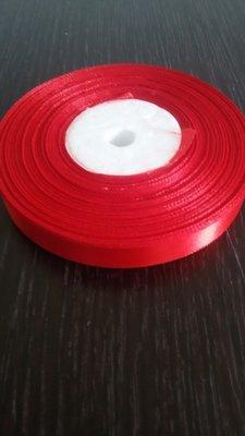 Лента атласная h 12 мм красный