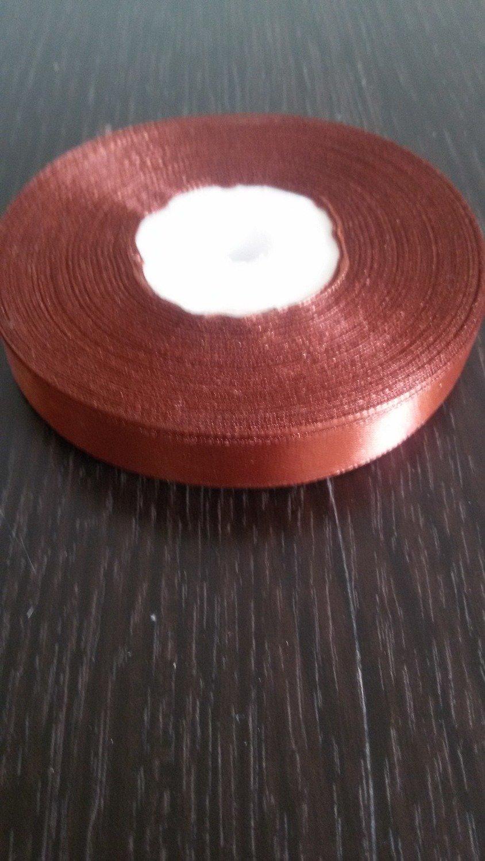 Лента атласная h 12 мм коричневый