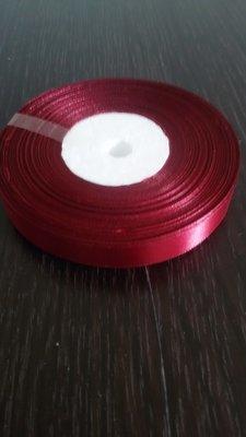 Лента атласная h 12 мм бордовый