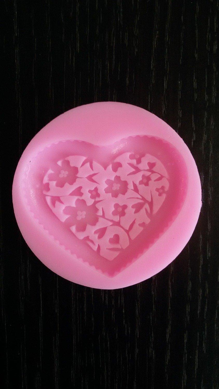 Силиконовый молд Сердце 5.7*1 см