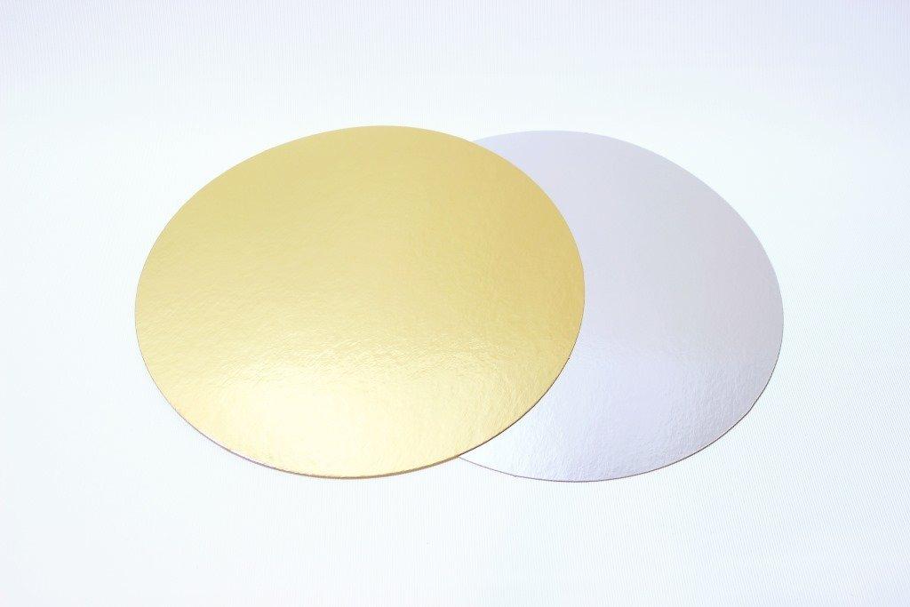 Подложка плотность 1,5 мм золото/белый d 20 см