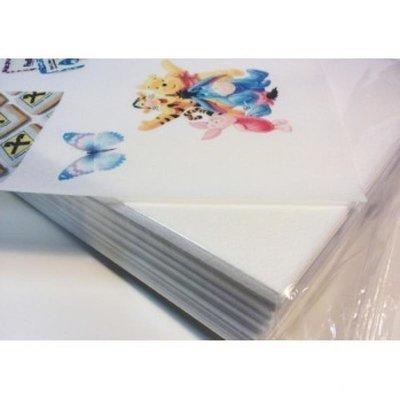 Вафельная бумага для пищевого принтера 0,35 мм, А4 1 лист