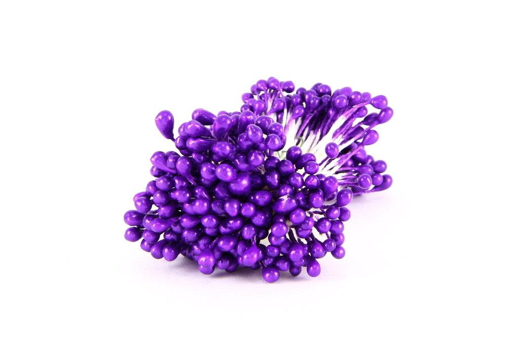 Тычинки двухсторонние фиолетовые, 20 шт