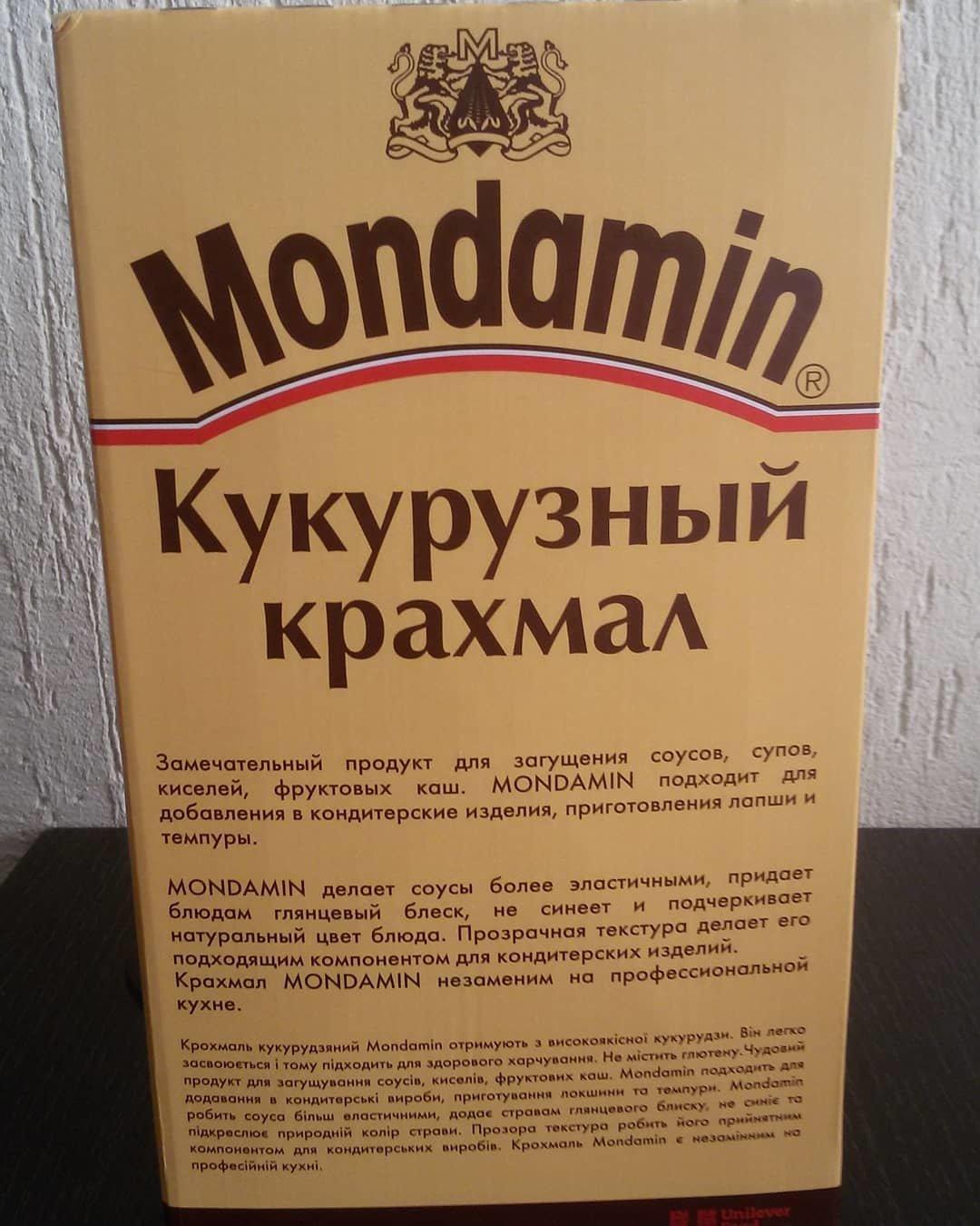 Кукурузный крахмал MONDAMIN без глютена Франция 200 гр