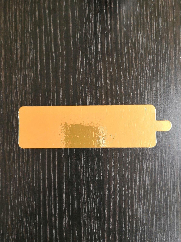 Подложка с держателем золото 0.8 мм прямоугольник 130/40 мм