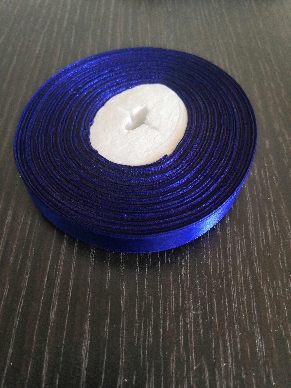 Лента атласная h 12 мм синий