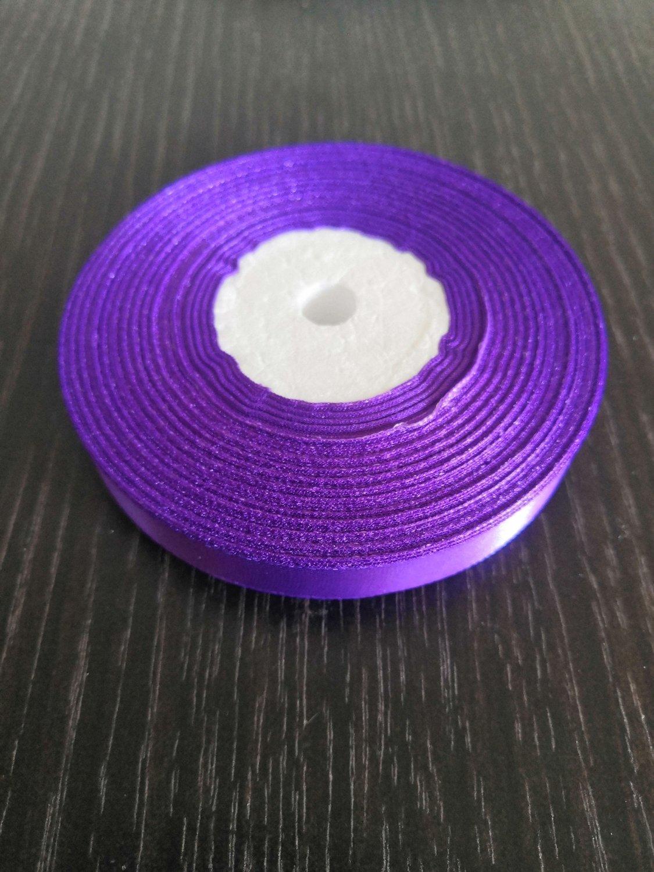 Лента атласная h 12 мм фиолетовый