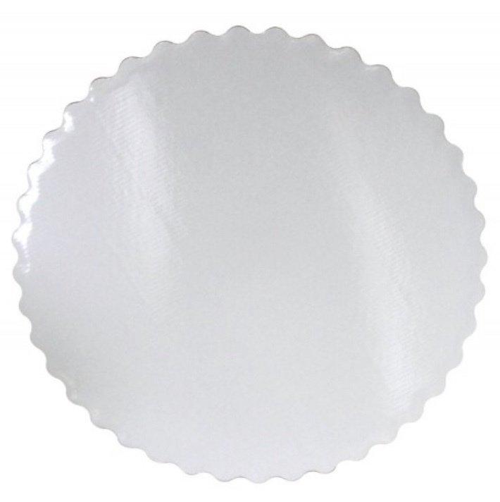 Подложка ажурная плотность 3 мм белая d 26