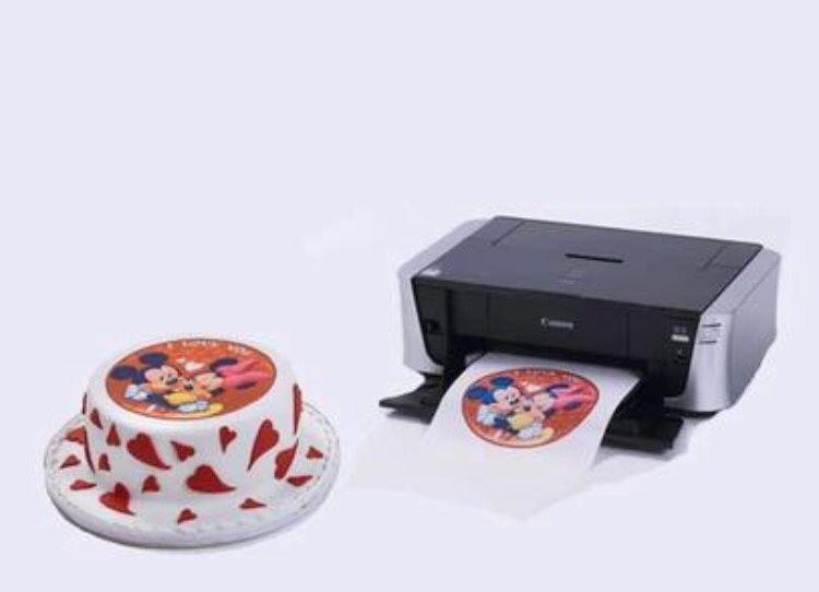 Печать на съедобной вафельной бумаге А4 1 лист