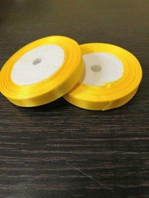 Лента атласная h 12 мм желтый