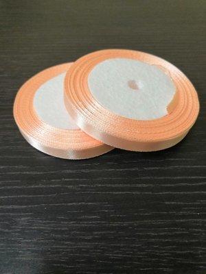 Лента атласная h 0.6 мм персиковый