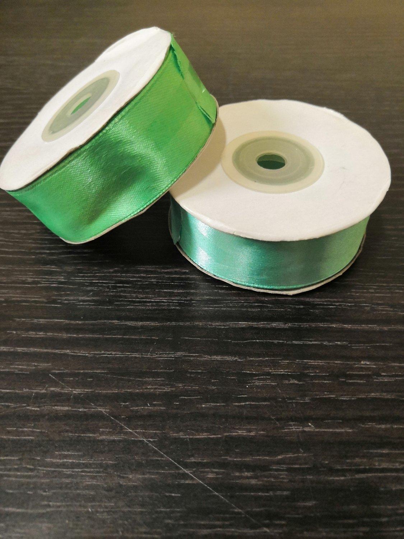 Лента атласная h 25 мм светло зеленый