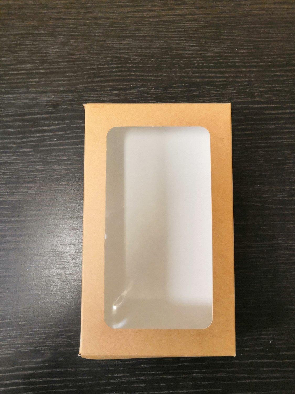 Кондитерская упаковка с окном крафт/белая 20*12*4,5 см