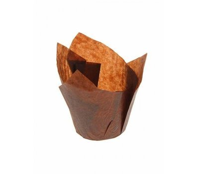 Форма бумажная Тюльпан коричневый 50х80 мм 1 шт
