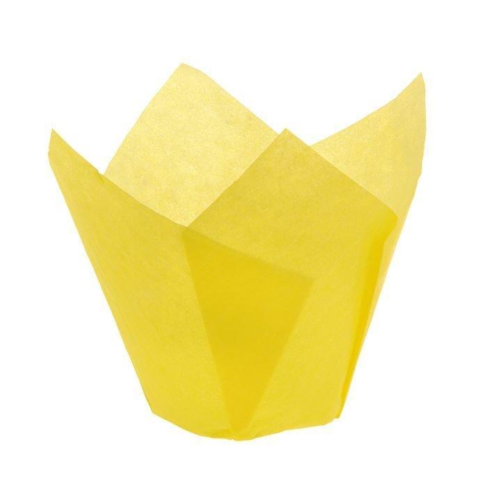 Форма бумажная Тюльпан желтый 50х80 мм 1 шт