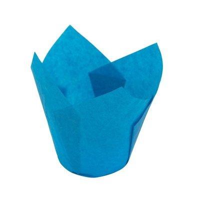 Форма бумажная Тюльпан голубой 50х80 мм 1 шт