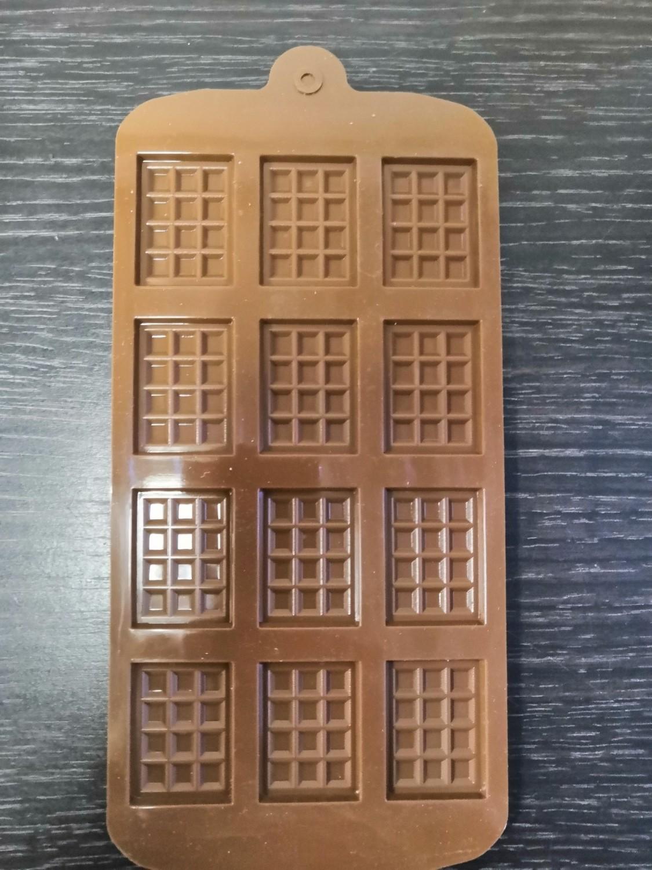 Силиконовая форма Плитки шоколада мини 12 ячеек