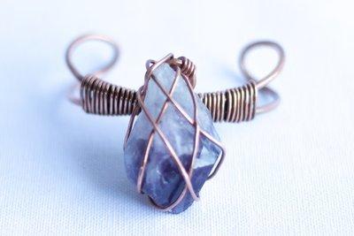 Amethyst Copper Bracelet